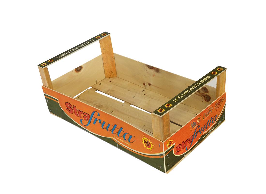 Cassette in legno per ortofrutta con stampa for Arredamento ortofrutta in legno