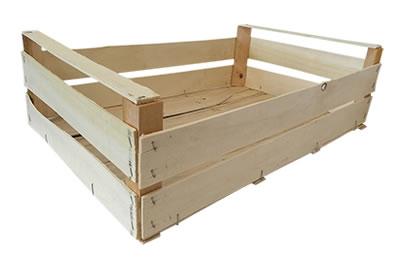 Imballaggi fidaleo cassette per ortofrutta legno for Arredamento ortofrutta in legno
